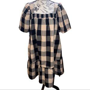Who What Wear- Safari Checkered Dress L